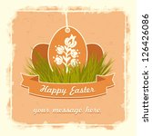 old classic easter eggs card... | Shutterstock .eps vector #126426086