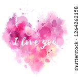 watercolor imitation valentine... | Shutterstock . vector #1264262158