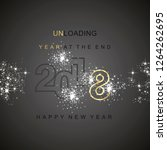 the end 2018 unloading sparkle... | Shutterstock .eps vector #1264262695