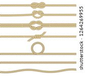 nautical rope knots. set of... | Shutterstock .eps vector #1264269955