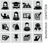 higher education icons | Shutterstock .eps vector #126427226