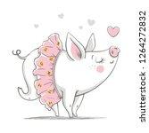 vector illustration of a cute...   Shutterstock .eps vector #1264272832