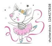 vector illustration of a cute...   Shutterstock .eps vector #1264272838