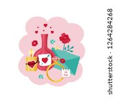 card for valentine's day. a... | Shutterstock .eps vector #1264284268