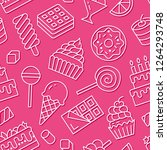 sweet food seamless pattern... | Shutterstock .eps vector #1264293748