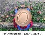 top view photographer sitting... | Shutterstock . vector #1264328758