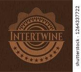 intertwine retro style wooden... | Shutterstock .eps vector #1264337722