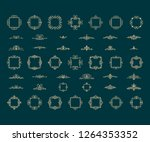 vintage decor elements and... | Shutterstock .eps vector #1264353352