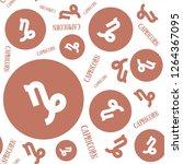 capricorn zodiac signs seamless ...   Shutterstock .eps vector #1264367095