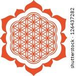 vector image    lotus   flower... | Shutterstock .eps vector #126437282