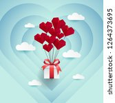 love and gift backgrund with... | Shutterstock .eps vector #1264373695
