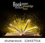 book. opened book with special... | Shutterstock . vector #126437516