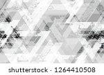 seamless grunge tech geometric... | Shutterstock .eps vector #1264410508