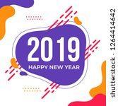 2019 happy new year. greeting... | Shutterstock .eps vector #1264414642