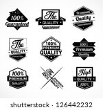 black and white premium quality ... | Shutterstock .eps vector #126442232