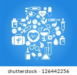 medical cross with health icon...   Shutterstock .eps vector #126442256
