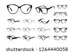 set of various eye glasses... | Shutterstock .eps vector #1264440058