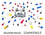 pile of electrical connectors...   Shutterstock . vector #1264453615