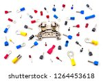 pile of electrical connectors...   Shutterstock . vector #1264453618