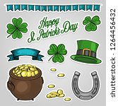 stickers set for saint patricks ... | Shutterstock .eps vector #1264456432