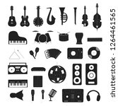 set of musical instruments in... | Shutterstock .eps vector #1264461565
