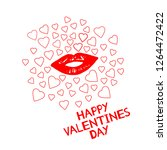 happy valentines day   card... | Shutterstock .eps vector #1264472422