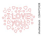 i love you   card with hearts.... | Shutterstock .eps vector #1264472428