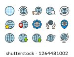 globe and world color line... | Shutterstock .eps vector #1264481002