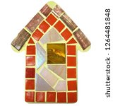 mosaic house. christmas house... | Shutterstock . vector #1264481848