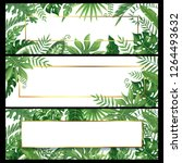 tropical leaves banners. exotic ...