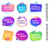 refer friend badges. referral... | Shutterstock .eps vector #1264493638