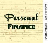 personal finance. concept... | Shutterstock .eps vector #1264496095