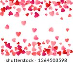 red flying hearts bright love... | Shutterstock .eps vector #1264503598