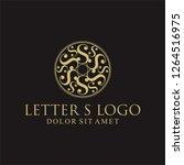 luxury letter s logotype | Shutterstock . vector #1264516975