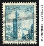 french morocco   circa 1955 ... | Shutterstock . vector #126451736