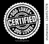certified dog lover stamp...   Shutterstock .eps vector #1264517578