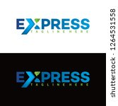 express logo with x variation... | Shutterstock .eps vector #1264531558