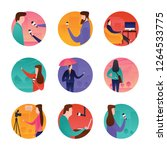 journalists and news related... | Shutterstock .eps vector #1264533775