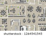 seamless pattern. office top...   Shutterstock .eps vector #1264541545