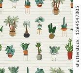 interior home plants vector... | Shutterstock .eps vector #1264547305