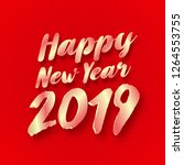 2019 happy new year typography... | Shutterstock .eps vector #1264553755