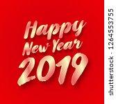 2019 happy new year typography... | Shutterstock .eps vector #1264553755