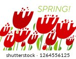 Spring Tulips Color Vector...