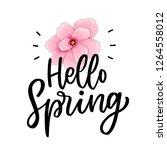 spring illusration flower with... | Shutterstock .eps vector #1264558012