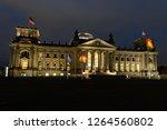 berlin night city skyline at... | Shutterstock . vector #1264560802