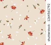 retro soft and gentle  pretty... | Shutterstock .eps vector #1264561792