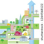 city city map  life in the city ... | Shutterstock . vector #1264568122