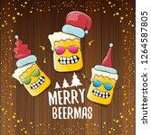 merry beermas vector christmas... | Shutterstock .eps vector #1264587805