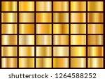 realistic gold gradient texture ... | Shutterstock .eps vector #1264588252