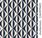 seamless retro pattern with... | Shutterstock .eps vector #1264595605